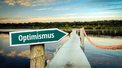 Fototapete - Schild 381 - Optimismus