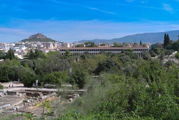 Athens, Greece .  Stoa of Attalos, ancient Agora in Athens, Greece