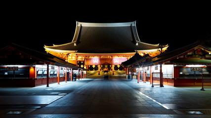 asakusa sensoji temple in night
