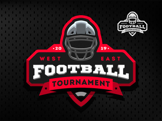 American Football tournament emblem, logo on a dark background.