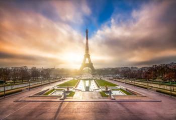 Fotomurales - Eiffelturm in Paris, Frankreich