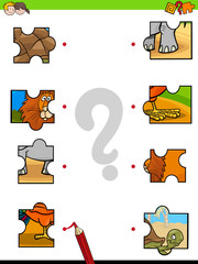 match jigsaw puzzles educational game