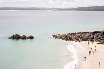 People on beach, England, UK Fotoväggar