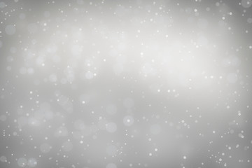 abstract white silver bokeh defocused background