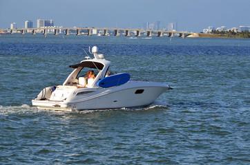 Luxury Cabin Cruiser on the Florida Intra-Coastal Waterway