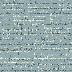 Seamless pattern of illegible handwriting poems.