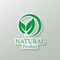 natural vector design.logo natural product