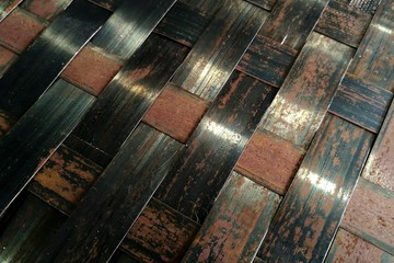 old and rusty metal weave for abstract background