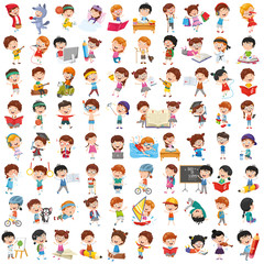 Vector Collection Of Cartoon Children