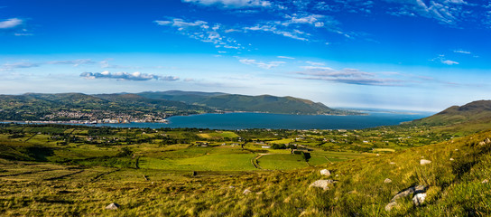 The Cooley Mountains are located on the Cooley Peninsula in northeast County Louth in Ireland.