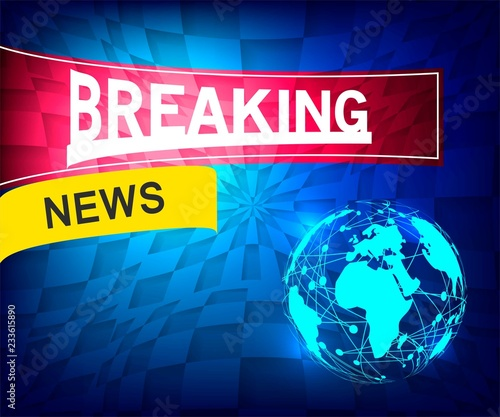 Breaking news background  TV news design
