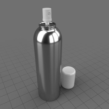 Open spray bottle