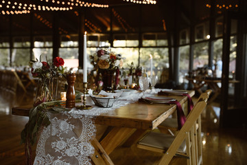 dreamy indoor family dinner party setting