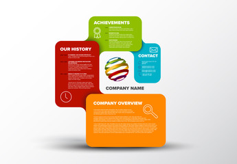 Infographic Layout with Multicolored Rectangles