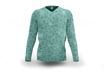 Patterned Long-Sleeved Shirt Mockup