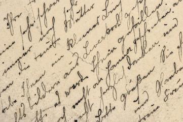 Handwritten english text Digital paper texture background