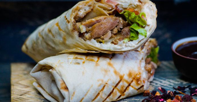 the Doner kebab in the restaurant
