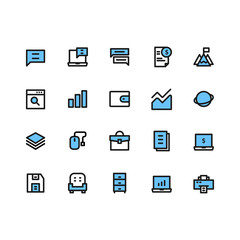 Business Icon Sets Filled Line