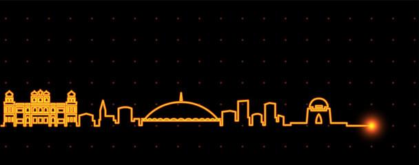 Karachi Light Streak Skyline Fototapete