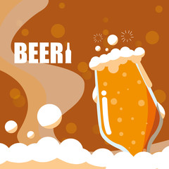 glass of beer isolated icon