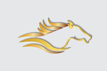 Racing horse logo vector image