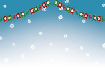 イラスト素材:クリスマスのイメージのパーティーフラッグ・三角旗 Party Flag illustration