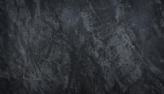 Panorama black concrete wall texture background. Black slate concrete texture surface