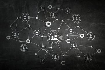 Social communication concept