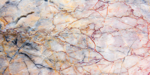 Wall Mural - Panorama colorful marble texture background. Panoramic stripe brown marble texture surface