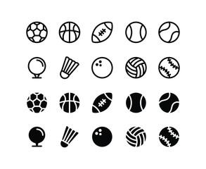 Ball Games Icon Logo Vector Symbol. Ball Sport Icon