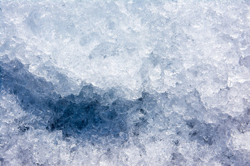 Crushed ice texture background. Ice crystals texture surface