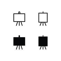 Easel Icon Logo Vector Symbol. Canvas Icon