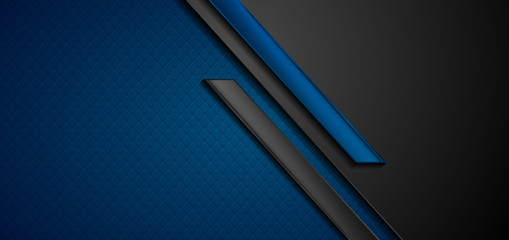 Black and blue abstract tech geometric background