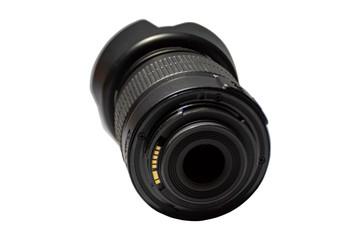 Camera lenses ADSL on a white background.