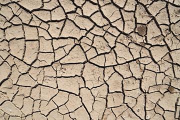 crack earth in arid area
