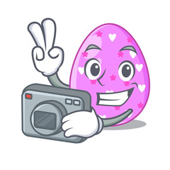 Photographer eggs easter holiday character for spectacle