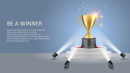 Business sport winner vector poster web banner template
