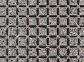 Eisengitter mit Sand
