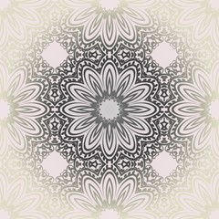 Design with abstract hand drawn floral seamless pattern with decorative element. Vector illustration. Template design for card, shawl, bandanna, fashion print