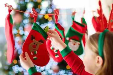 Christmas presents for kids. Advent calendar.