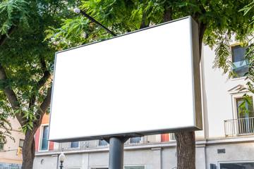 Outdoor billboard with natural landscape mockup Fotomurales