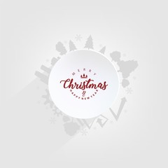 christmas card with paper background