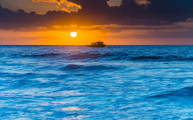 Blue Seas Bold Sunrise