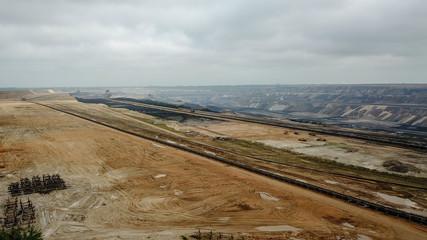 Luftaufnahme vom Braunkohleabbau