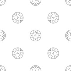 Clock pattern seamless vector repeat geometric for any web design