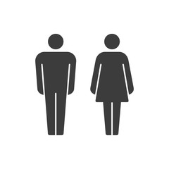 Vector pictograms of man and woman