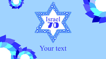 Judaic patriotic selebration of Israel independense day 70 years of freedom
