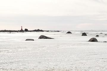 Ice coast of Baltic sea