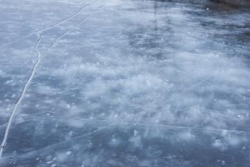 ice cracked background