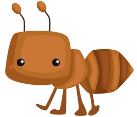 a vector of a cute worker ant